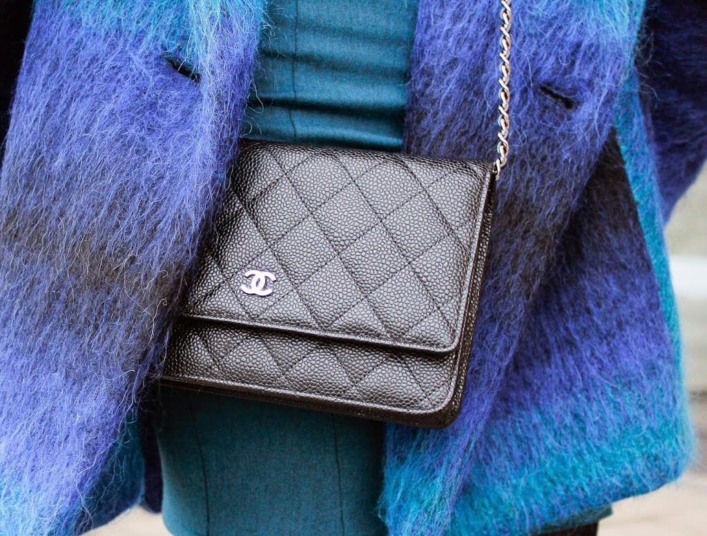 Streetstyle, chanel, blautoene, fashion week berlin, trend, winter, cape, designer, franzius, vektor